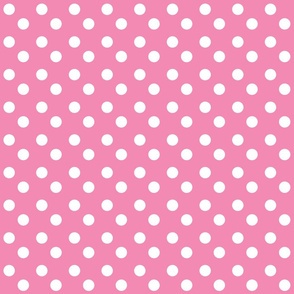 polka dots MEDIUM 2x2 -bubble gum white