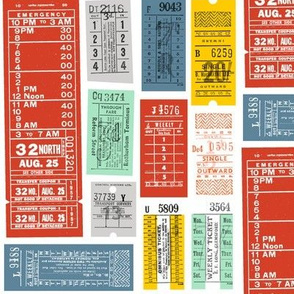 Now Taking Tickets! (Custom Red) || vintage ephemera bus train subway tickets uk Europe London British