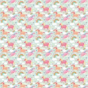 Small_Unicorn and Rainbow
