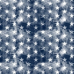 (small scale) distressed stars on navy