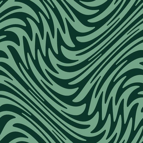 succulent swirl - cool green