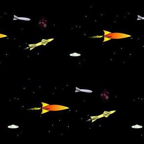 Sci-Fi Pulp Rockets and Nebulas