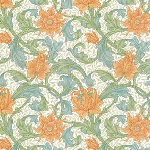 William Morris ~ Single Stem  ~ Original on White