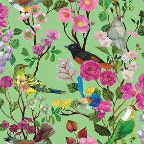 Birds and Blooms Chinoiserie {Apple}