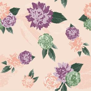Vintage floral repeat