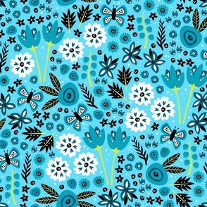 Spring Garden (Lt. Blue)