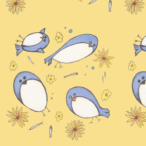 Bluebirds & Brown Eyed Susans