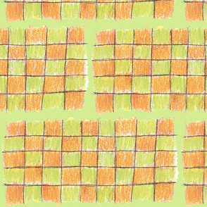 Orange & Green Checkerboard