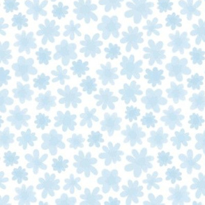 Soft Blue Flowers