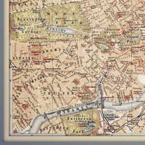 London vintage map, large