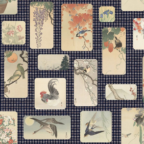 Japanese birds and flowers