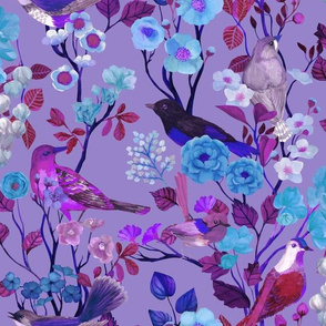 Birds and Blooms Chinoiserie {Mad Violet}