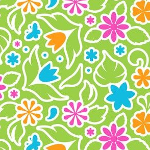 Chunky Lime Floral