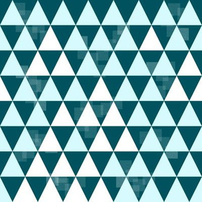 Triangle Trees (Teal-Light Blue-White)