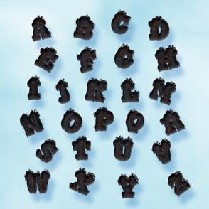 Panther Fur Alphabet