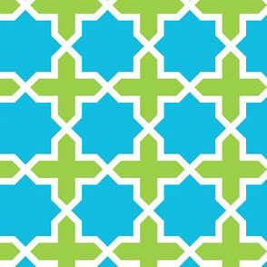 Turquoise and Lime Lattice