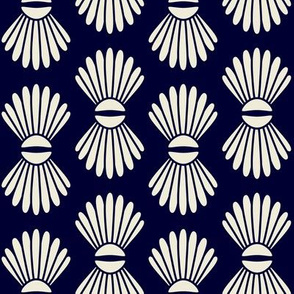 Scallop Shells Midnight Blue