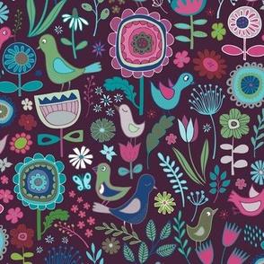 Birds & Blooms - Blueberry