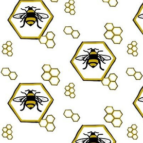 Bees in honeycombs