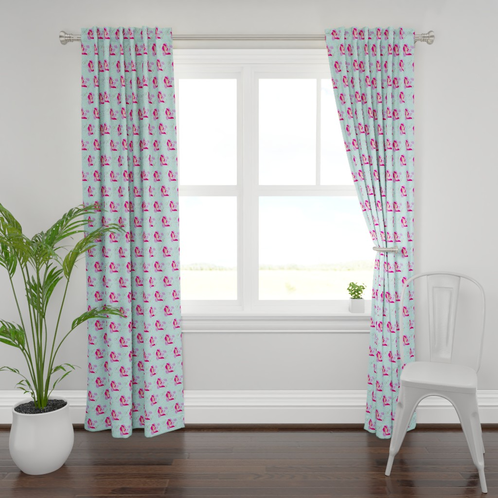 Plymouth Curtain Panel featuring Shoes & flowers by barbyyy