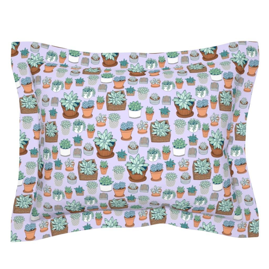 Sebright Pillow Sham featuring succulent love by kristinnohe