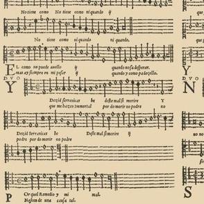 Spanish carols in mensural notation