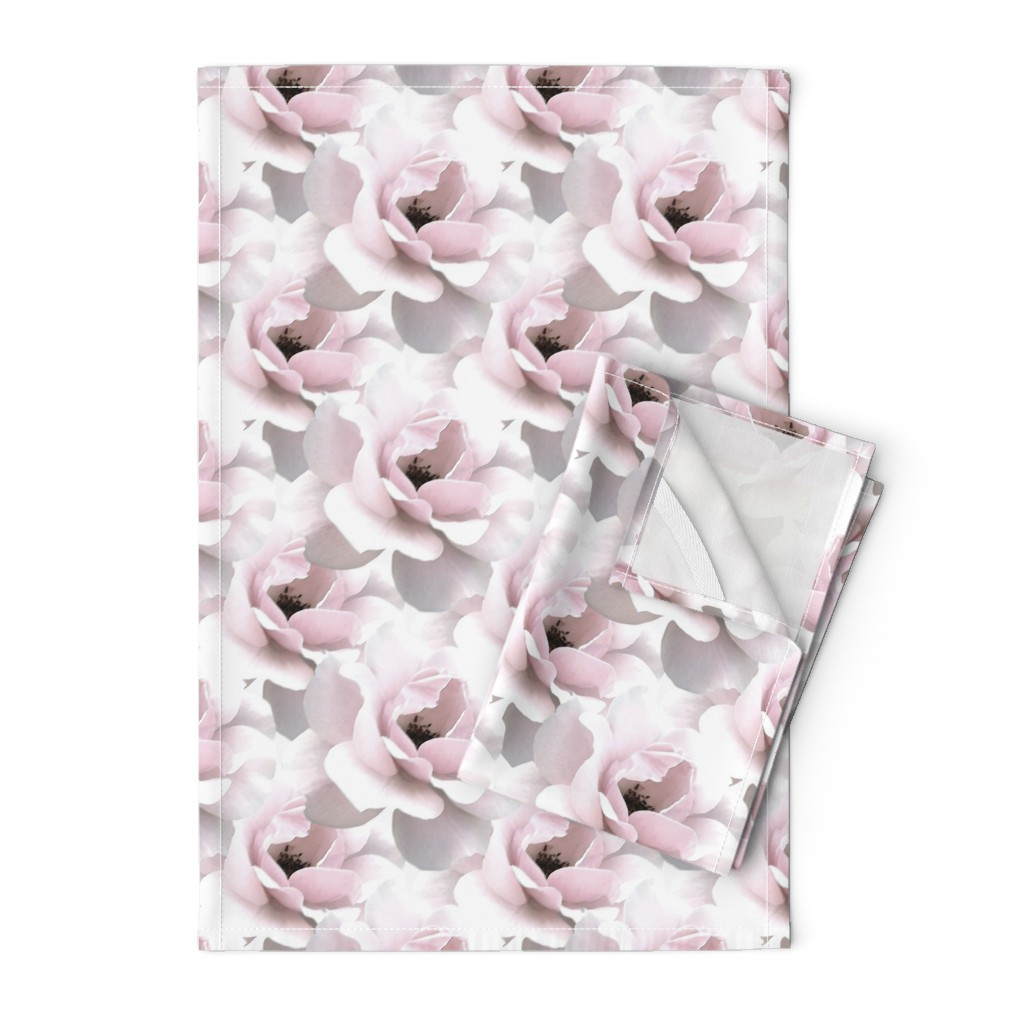 Orpington Tea Towels featuring Ultimate_Rose by artonfabric