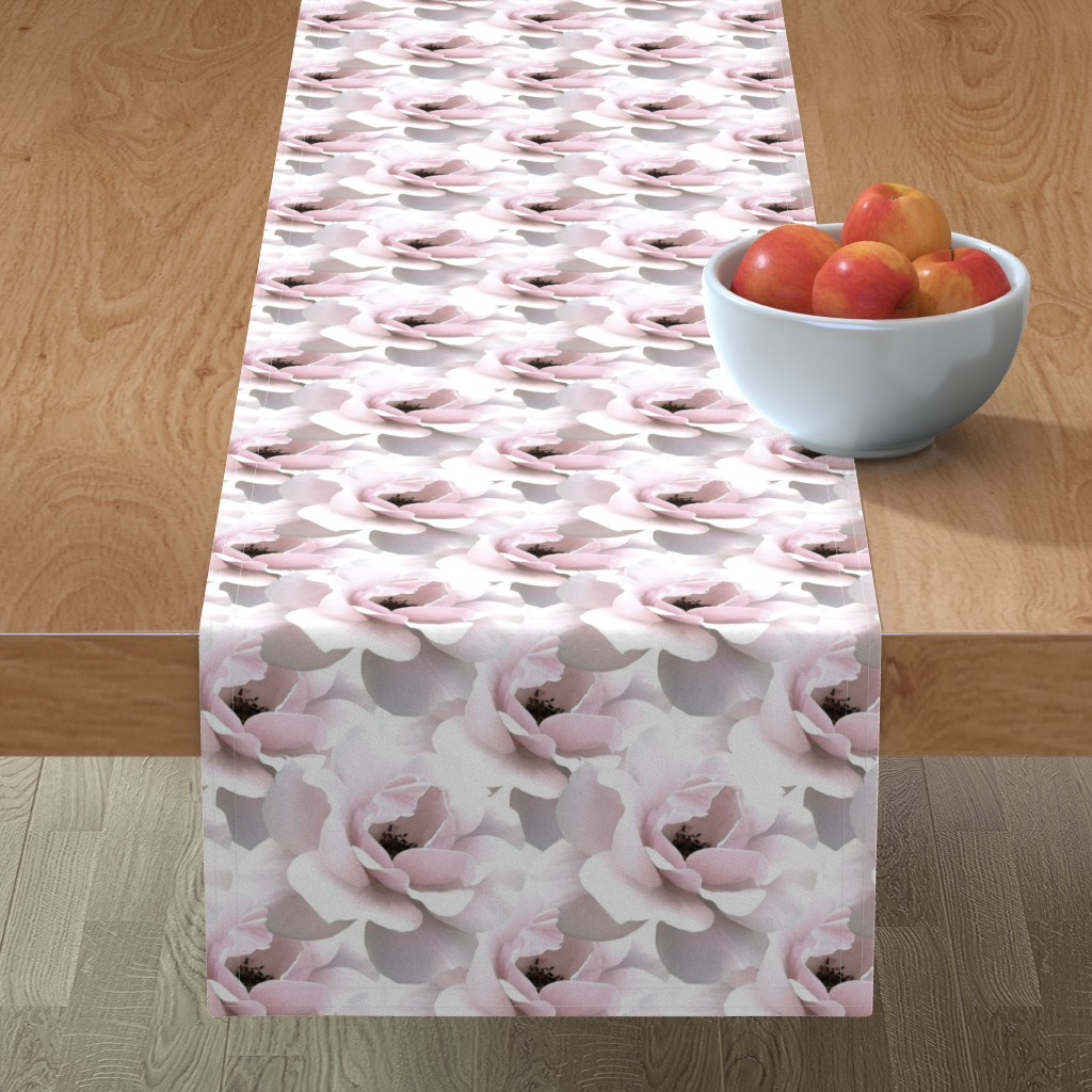 Minorca Table Runner featuring Ultimate_Rose by artonfabric