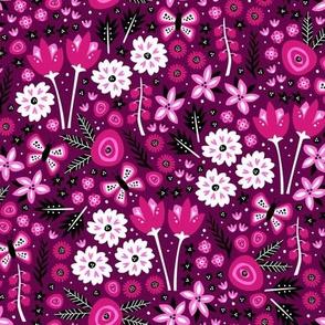 Spring Garden (Dark Pink Small)