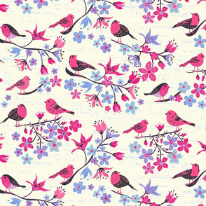 Birds and Cherry Blossom