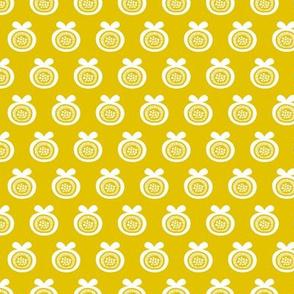 Sweet poppy fruit garden abstract apple blossom ochre yellow