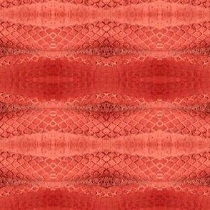 Horizontal Snakeskin (Ruby Red)