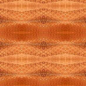 Horizontal Snakeskin (Orange)