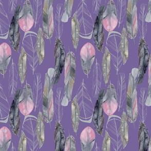 Boho Feathers Lavender