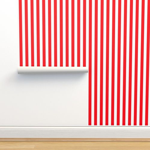 Wallpaper Carmine Red And White Stripes