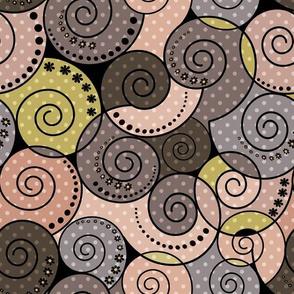 Brown beige pattern