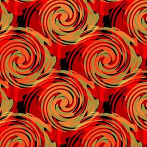 Swirl circles seamless abstract pattern