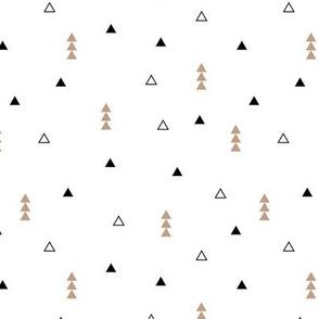 Cool Scandinavian style mini triangle geometric arrow print gender neutral