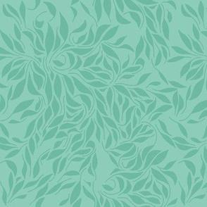 Swirling leafs_Turqoise