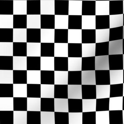 Negro Blanco Monocromo//metro cuadrado 100/% Tela De Algodón FQ Craft Checkboard cheque