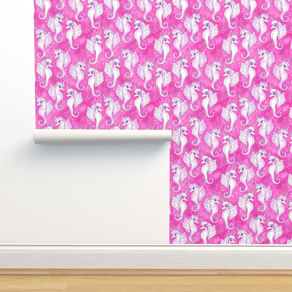 Isobar Durable Wallpaper featuring Princess Sea Unicorns by xoxotique