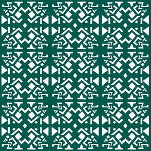 AZTEC ABSTRACT Forest Green