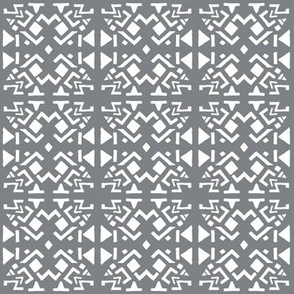 AZTEC ABSTRACT Smoky Grey