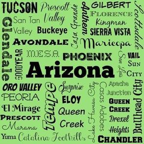 Arizona cities, green