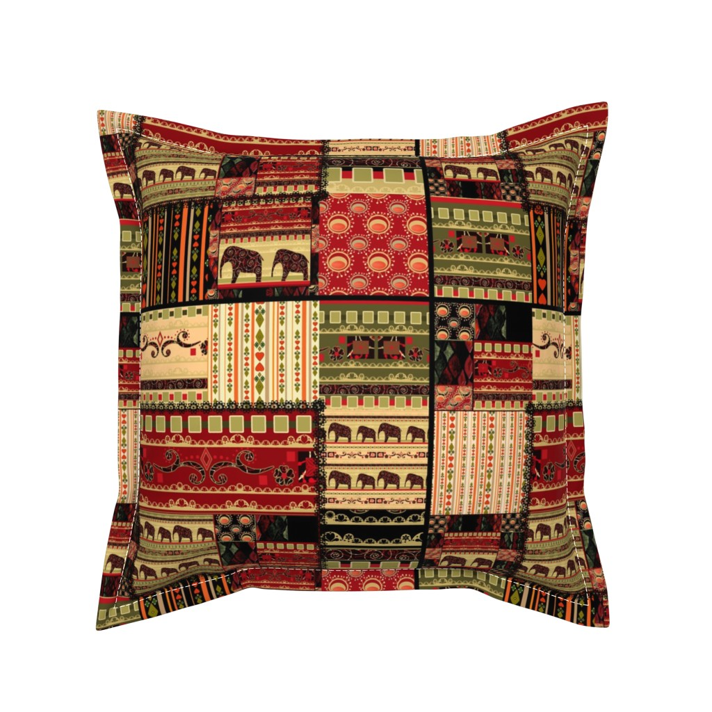 Serama Throw Pillow featuring African history . Patchwork . by fuzzyfox
