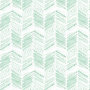 watercolor feather - mint