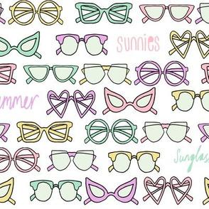 sunglasses fabric // cute summer girls sunnies sunglasses beach design -  pastel