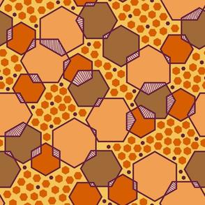 Intersecting Hexagons (Earthy)