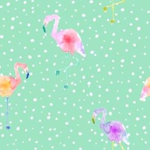 Indy Bloom Design Flamingo Dot Teal