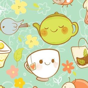 Garden Tea Party- Larger Print